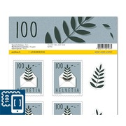 Special events, Sheet «Fern» Sheet with 10 stamps «Farn» of CHF 1.00, self-adhesive, mint