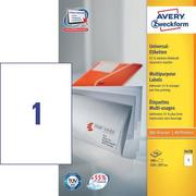 AVERY ZW. Universal labels 210x297mm 3478 white, A4 100sh. / 1pcs.