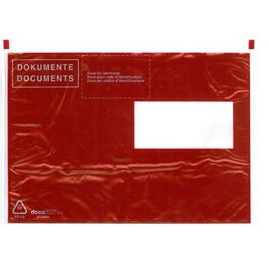 BÜROLINE Mailing Envelope C5 306284 red  /  black 250 pcs.