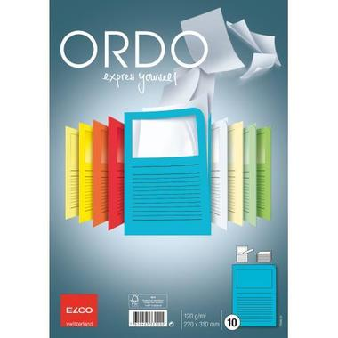 ELCO Sleeve Ordo 120g A4 73695.32 intensive blue, window 10 pcs.