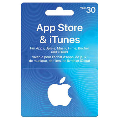Giftcard App Store & iTunes CHF 30.-
