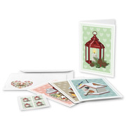 Christmas – wintry moments, Set of cards «Lantern» Set of 4 A6 double cards with the motif «Lantern», 4 C6 covers and 4 «Lantern» Christmas stamps (CHF 1.00) (not affixed)
