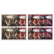 125 years cinema, Set of blocks of four Set of blocks of four (8 stamps, postage value CHF 8.00), gummed, cancelled