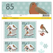 Christmas – wintry moments, Sheet «Birdhouse» Sheet with 10 stamps «Birdhouse» of CHF 0.85, self-adhesive, mint