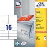 AVERY ZW. Universal labels 105x37mm 3484 white,perm. 1600pcs. / 100sh.