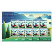 150 years Rigi Railways, Sheetlet Sheetlet with 10 stamps of CHF 1.00, gummed, mint