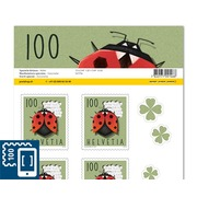 Special events, Sheet «Ladybird» Sheet with 10 stamps «Ladybird» of CHF 1.00, self-adhesive, mint
