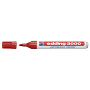 EDDING Permanent Marker 3000 1.5 - 3mm 3000 - 2 red, water - resistant