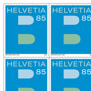 A Mail and B Mail, Sheet «B» Sheet with 10 stamps «B» of CHF 0.85, self-adhesive, mint