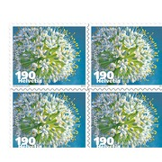 Vegetable blossoms, Sheet Vegetable blossoms, Business sheets of 10 stamps, Onion, mint