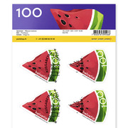Summer, Sheet «Watermelon» Sheet with 10 stamps «Watermelon» of CHF 1.00, self-adhesive, cancelled