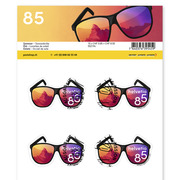 Summer, Sheet «Sunglasses» Sheet with 10 stamps «Sunglasses» of CHF 0.85, self-adhesive, cancelled