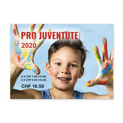 Pro Juventute - Happy childhood Stamp booklet with 12 stamps, postage value CHF 11