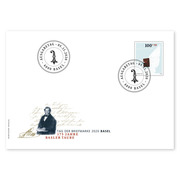 Stamp Day 2020 Basel, First-day cover Single stamp (1 stamp, postage value CHF 1.00+0.50) on 1 first-day cover (FDC) C6