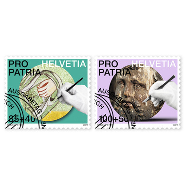 Craftsmanship and cultural heritage, Set Set (2 stamps, postage value CHF 1.85+0.90), gummed, cancell