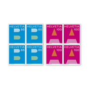 A Mail and B Mail, Set of blocks of four Set of blocks of four (8 stamps, postage value CHF 7.40), self-adhesive, mint