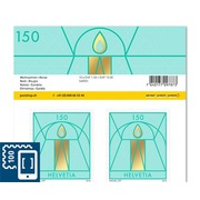 Christmas, Sheet «Candle» Sheet with 10stamps «Candle» of CHF 1.50, self-adhesive, mint
