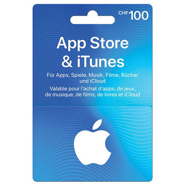 Carte regalo App Store & iTunes CHF 100.-