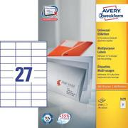 AVERY ZW. Universal labels 70x32mm 3479 white,perm. 2700pcs. / 100sh.