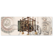 Clockmaking, Miniature Sheet Miniature sheet of CHF 5.00, gummed, cancelled