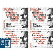 Carl Spitteler 100 years Nobel Prize in Literature 1919-2019, Sheet Sheet with 20 stamps of CHF 1.00, gummed, mint