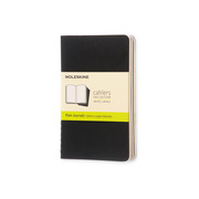 MOLESKINE Notebook Cahier A6 704918 blank, black 3 pcs.