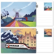 Ceneri 2020, Set of postal cards <p>Set of 2 postal cards, postage value CHF 1.00 each and CHF 2.00 for the cards, mint</p>