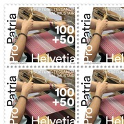 Pro Patria 2020 - Living cultural heritage Sheet with 20 stamps «Foundation Tessanda Val Müstair» of CHF 1.00+0.50, gummed, mint