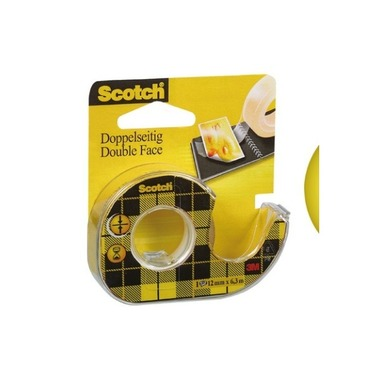 SCOTCH Tape with roller 665 12mmx6.3m 7100150064double - sided