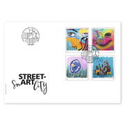 Street-Art, First-day cover Single stamps (4 stamps, postage value CHF 4.00) on 4 first-day covers (FDC) C6