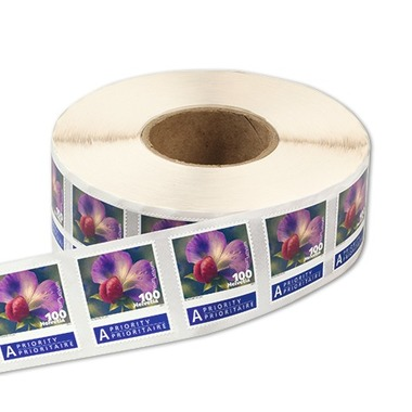 Vegetable blossoms Roll with 2'000 stamps «Vegetable blossoms» of CHF 1.00, self-adhesive, mint