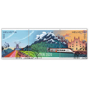 Ceneri 2020, Set Set (2 stamps, postage value CHF 2.00), gummed, cancelled