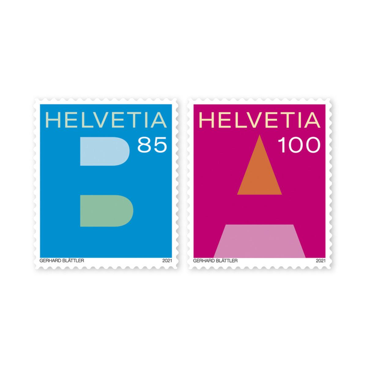 瑞士3月4日发行A类邮件和B类邮件邮票