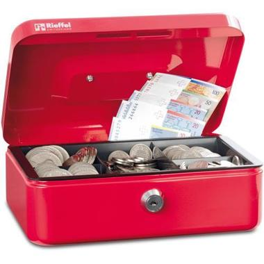 RIEFFEL Cash box Valorit VTGK1ROT 7x15,3x12cm red