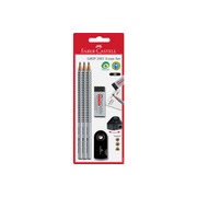 FABER - CA. Pencil Grip 2001 217079 silver / black 3 pcs.
