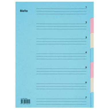 BIELLA Sorter A4 326407.00 7 tabs, carton, colored