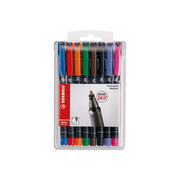 STABILO OHP Pen permanent 1mm 843 / 8 8 pcs., case