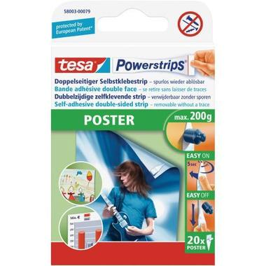 TESA Powerstrips Poster 20 pcs. 580030007 removable, capacity 200g