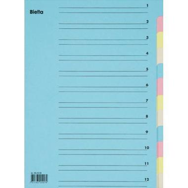 BIELLA Sorter A4 326412.00 12 tabs, carton, colored