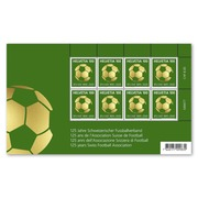 125 years Swiss Football Association, Sheetlet Sheetlet with 8 stamps of CHF 1.00, gummed, mint