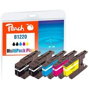 Peach Multi Pack Plus with chip, compatible with Brother LC-1220