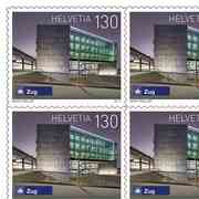Swiss railway stations, Sheet «Zug» Sheet with 10 stamps «Zug» of CHF 1.40, self-adhesive, mint