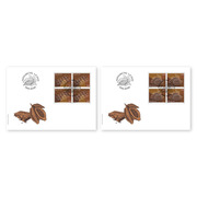Chocolate, First-day cover Blocks of four (16 stamps, postage value CHF 12.00) on 2 first-day covers (FDC) C6