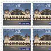 Swiss railway stations, Sheet «Basel» Sheet with 10 stamps «Basel» of CHF 5.30, self-adhesive, mint