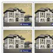 Swiss railway stations, Sheet «Fleurier» Sheet with 10 stamps «Fleurier NE» of CHF 0.50, self-adhesive, mint