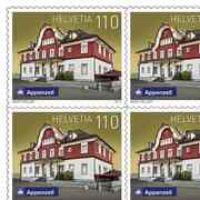 Swiss railway stations, Sheet «Appenzell» Sheet with 10 stamps «Appenzell» of CHF 1.10, self-adhesive, mint
