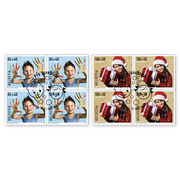 Pro Juventute - Happy childhood Set of blocks of four (8 stamps, postage value CHF 7.40+3.60), self-adhesive, cancelled
