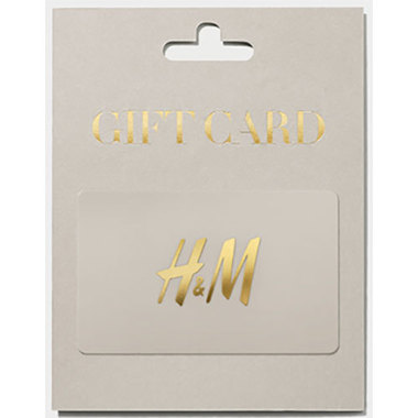 Giftcard H&M grey variable