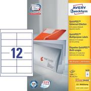 AVERY ZW. Universal labels 97x42.3mm 3659 white, A4 100sh. / 12pcs.