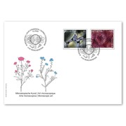 Microscopic art Set (2 stamps, postage value CHF 1.85) on first day cover (FDC) C6